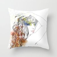 rogue Throw Pillows featuring Rogue by Mariano Daniel