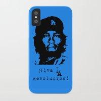 dodgers iPhone & iPod Cases featuring Yasiel Puig - Viva LA Revolucion! by Adrian Mentus