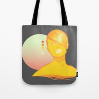 vodka Tote Bags featuring Vodka Sunrise  by PKLdesigner