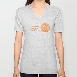 MKG Yarn - Orange Unisex V-Neck