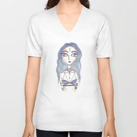 magical girl V-neck T-shirts featuring MAGICAL GIRL #1 by Ronia Garrett-Benson