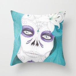 Dia De Los Muertos - Lily Throw Pillow