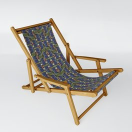 Cool Woven Blue Sling Chair