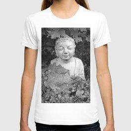 Buddha back and white T-shirt