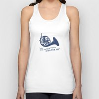 how i met your mother Tank Tops featuring How I Met Your Mother - Blue French Horn by Victoria Schiariti