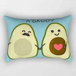 Couple pregnant avocado cartoon doodle style Rectangular Pillow