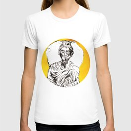 yellow sitting and the daily shudder T-shirt