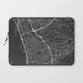 Chula Vista Map, USA - Gray Laptop Sleeve
