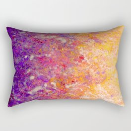 Abstract Art in Sunset Palette Purple Rectangular Pillow