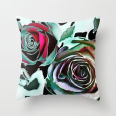 Snowy roses(2). Throw Pillow