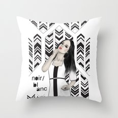 Noir et blanc Throw Pillow