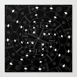 Swirling Canvas Print
