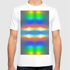 Abstract sunsets Mens Fitted Tee White MEDIUM