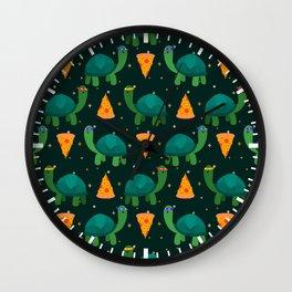 Turtles & Pizza Wall Clock
