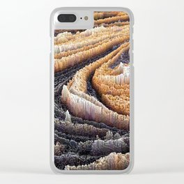 Abstract Topography - Coffee Clear iPhone Case
