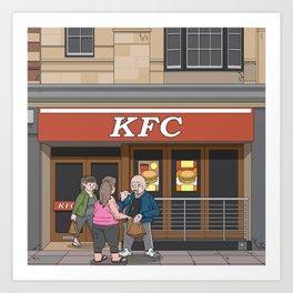 Oxford - Cornmarket Street Art Print