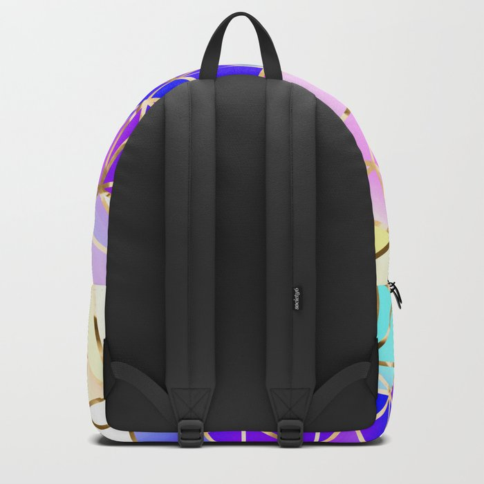Rainbow Geometric pattern #8 Backpack