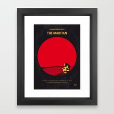 No620 My The Martian minimal movie poster Framed Art Print