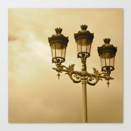 Between Me You and the Lamppost Canvas Print