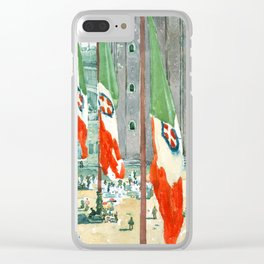 Piazza di San Marco by Maurice Prendergast Clear iPhone Case