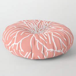 Abstract Flower Coral Floor Pillow