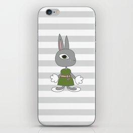 Girl Rabbit - cartoon style character. iPhone Skin