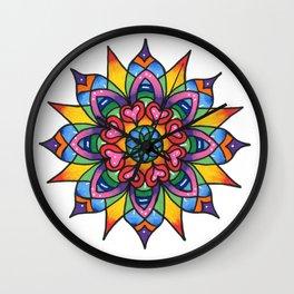 Vibrations Mandala Wall Clock