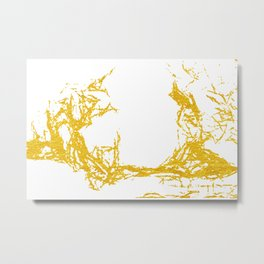 Gold Abstract XII Metal Print