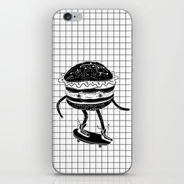 Cucumburger. Cucumber Burger on skateboard iPhone Skin