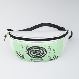 Fortune Teller Hands Over Crystal Ball Design — Witchy Hands Over Orbuculum Illustration Fanny Pack