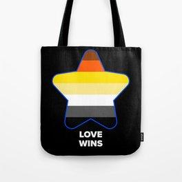 LGBT Heart Bear Flag for Gay pride Tote Bag