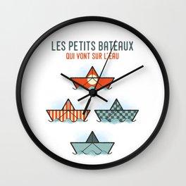 Les Petits Bateaux - Nautical Flags Edition Wall Clock