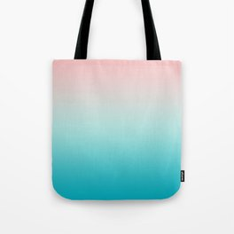 Pastel Ombre Millennial Pink Blue Teal Gradient Pattern Tote Bag