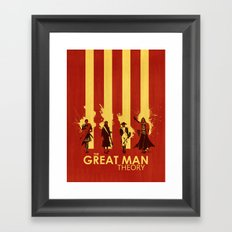 The Great Man Theory Framed Art Print