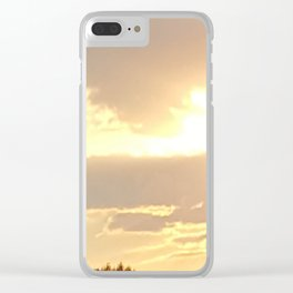 Yellow Sunset Clear iPhone Case