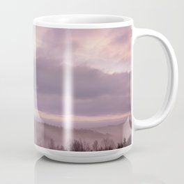 Pink Morning Mist In Sweden Coffee Mug
