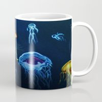 jelly fish Mugs featuring Jelly-Jelly-Fish by Fknjedi1
