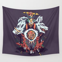 The Wolf Princess (Purple) Wall Tapestry