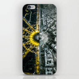 Night and day above Paris iPhone Skin