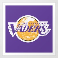 lakers Art Prints featuring L.A. Vaders by Ant Atomic