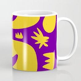 African Purple Night with Yellow Stars Coffee Mug