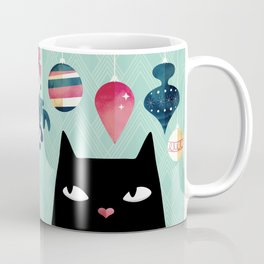Mistletoe? (Black Cat) Coffee Mug