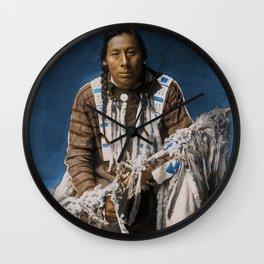 A medicine pipe - Blackfoot - American Indian Wall Clock