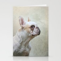 french bulldog Stationery Cards featuring French bulldog  by Pauline Fowler ( Polly470 )