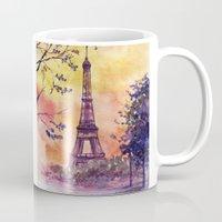 paris Mugs featuring Paris by Anna Shell