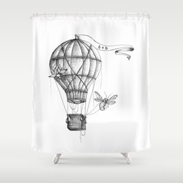 "Brix and Bailey ""Up And Away"" Shower Curtain"