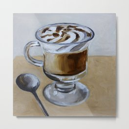 Coffee latte, original oil painting, art Metal Print