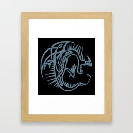 Celtic Knotwork Deadly Nadder (Blue) Framed Art Print