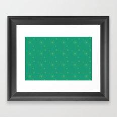 Spiral Pattern - green Framed Art Print