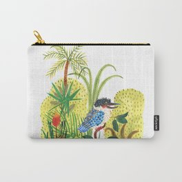 dacelo bird in a jungle Carry-All Pouch